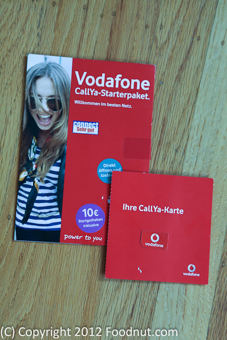Vodafone Germany iPhone SIM
