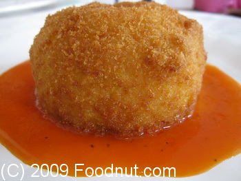 54 Mint Wine Bar San Francisco Arancina di Carne Fried Rice Ball