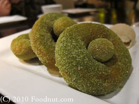 5A5 Steak Lounge San Francisco matcha Tea doughnuts