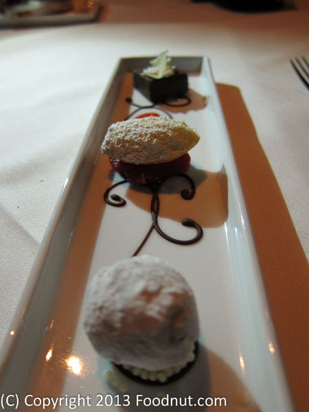 Alexanders Steakhouse San Francisco petite fours
