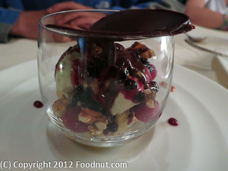 All Spice San Mateo snowglobe ice cream sundae