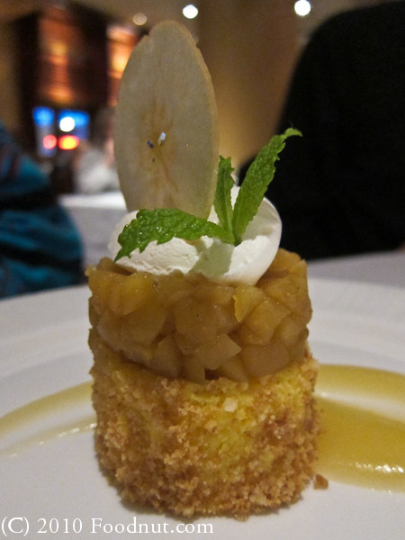 Araxi Restaurant Whistler BC Canada Apple cheesecake