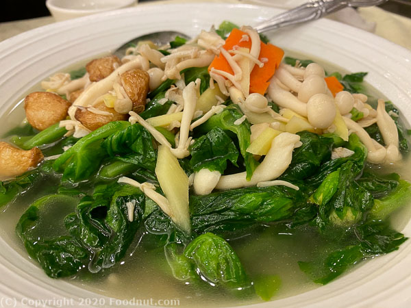 Asian Pearl Millbrae pea shoots in supreme broth