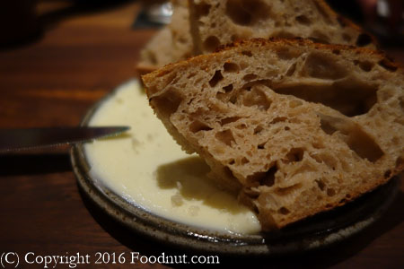 Aster San Francisco Sourdough Bread butter