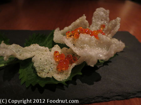 Atelier Crenn San Francisco Roe Rice Cracker