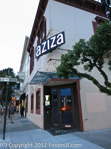 Aziza San Francisco exterior decor