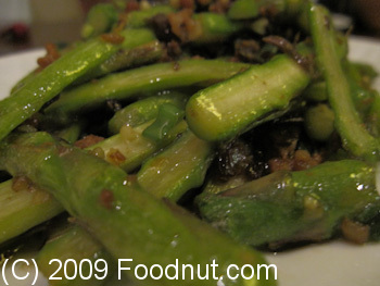 Ba Shan London UK Dry fried Asparagus