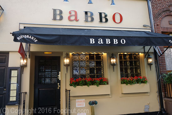 Babbo New York exterior decor
