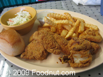 Back A Yard Menlo Park Fried Catfish and Shrimp