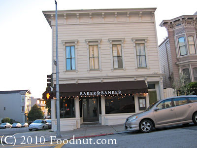 Baker and Banker Restaurant San Francisco exterior decor