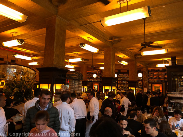 Balthazar NYC interior decor