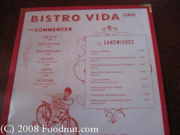 French Bistro Food Menu Foodnut.com · france food menu