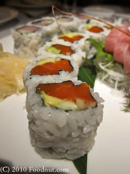 Blue Water Cafe Vancouver BC Canada Salmon roll