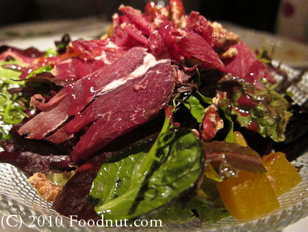 Blue Water Cafe Vancouver BC Canada muskox Bresaola salad