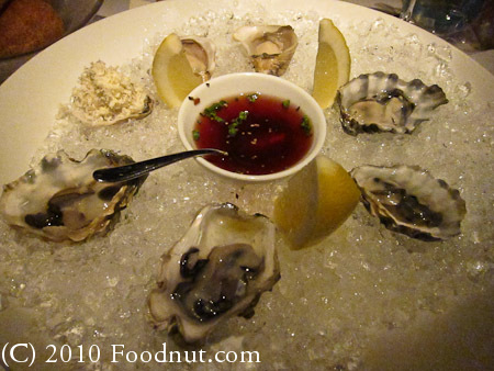 Blue Water Cafe Vancouver BC Canada raw oysters