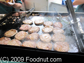 Borough Market London UK Northfield Farms goat burgers