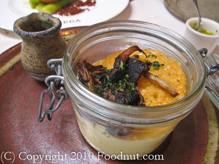Bottega Yountville polenta under glass