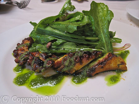Bottega Yountville wood grilled octopus
