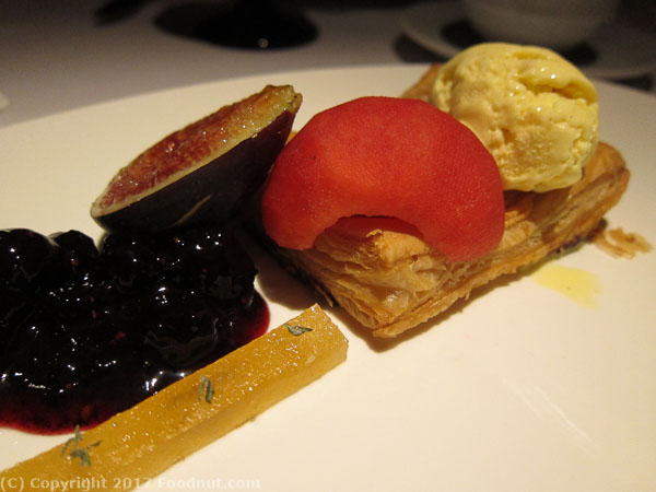 Boulevard San Francisco Warm Gravenstein and pink pearl apple tart