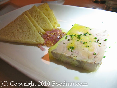 Cafe des Amis San Francisco Foie Gras Terrine