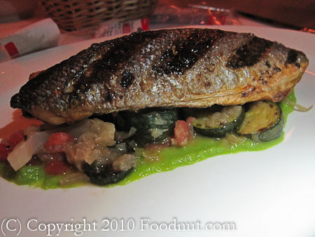 Cafe des Amis San Francisco Grilled Branzino