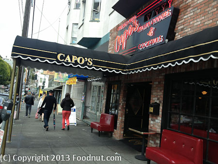 Capos San Francisco exterior decor
