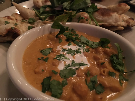 Cassia Santa Monica flatbred with chickpea curry