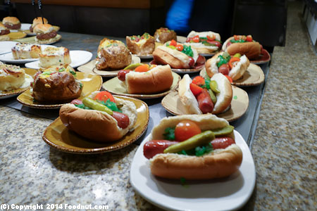 Caesars Bacchanal Buffet Las Vegas mini hot dogs