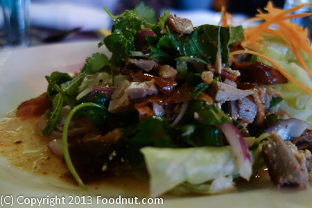 Chabaa San Francisco duck larb salad