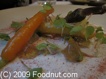 Coi Restaurant San Francisco Young Carrots roasted in hay