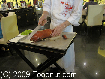 DaDong Roast Duck Restaurant Beijing China Peking Duck Carving