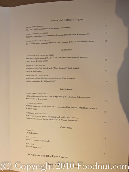 Donato Enoteca Redwood City menu