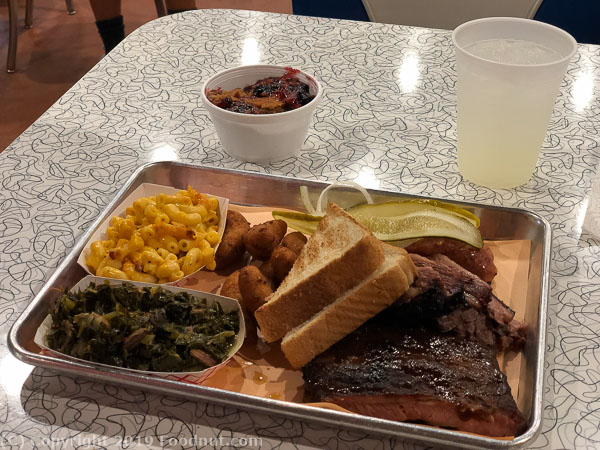 The Q Shack Durham BBQ Combo Plate