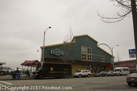 Elliots Oyster House Seattle exterior decor