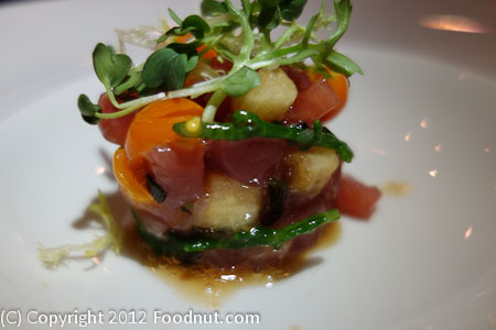 Farmhouse Forestville Sashimi of Ahi Tuna