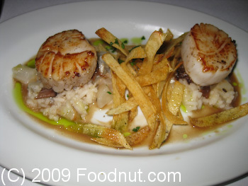 Flora Oakland Scallops and Oxtail