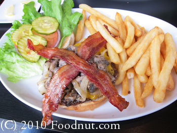 Godfathers Burger Lounge Belmont Ultimate burger French Fries