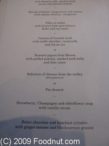 Gordon Ramsay London UK menu 6
