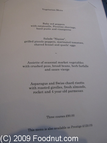 Gordon Ramsay London UK menu 7
