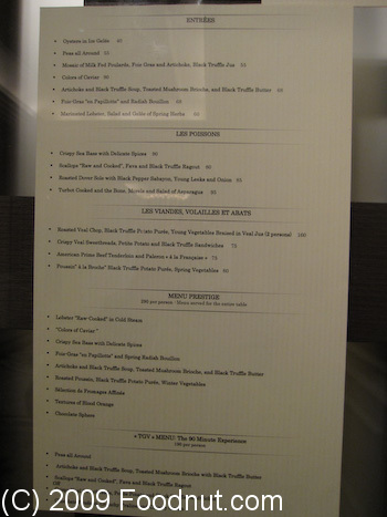 Restaurant Guy Savoy Las Vegas Menu 8