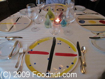 Guy Savoy Paris France Dining Table Arrangement