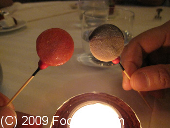 Guy Savoy Paris France Pre Dessert Ice Cream popsicles
