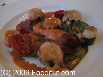 Guy Savoy Paris France Salade de homard Brenton Lobster Salad
