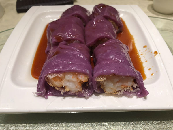 HL Peninsula South San Francisco Dim Sum Purple Shrimp Rice Noodle