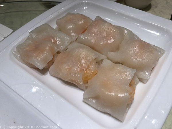 HL Peninsula South San Francisco Dim Sum Shrimp rice noodle rolls