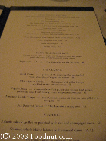 Harris Steakhouse San Francisco Menu 4
