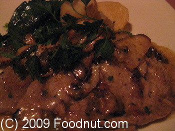 Ideale Restaurant San Francisco Veal Scallopini