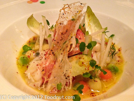 Joel Robuchon Las Vegas Lobster and artichoke salad