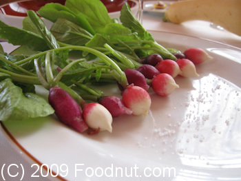 L Arpege Paris France Amuse Bouche Fresh Baby Radishes