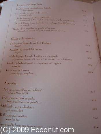 L Arpege Paris France Menu 3